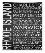 Subway Rhode Island State Square Fleece Blanket