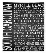 Subway South Carolina State Square Fleece Blanket