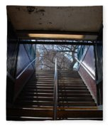 Subway Stairs To Freedom Fleece Blanket