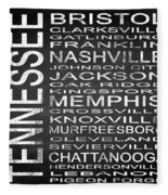 Subway Tennessee State Square Fleece Blanket