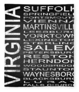 Subway Virginia State 2 Square Fleece Blanket