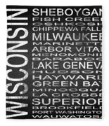 Subway Wisconsin State 2 Square Fleece Blanket