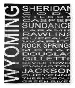 Subway Wyoming State Square Fleece Blanket