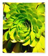 Succulent Close Up Fleece Blanket