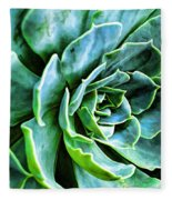 Succulents Fleece Blanket