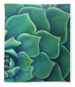 Succulent Study 2 Fleece Blanket