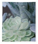 Succulents 2 Fleece Blanket
