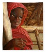 Sudanese Girl Fleece Blanket