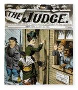 Suffrage Cartoon, 1884 Fleece Blanket