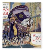 Suffragette Parade, 1913 Fleece Blanket