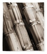 Sugar Cane - Sepia Fleece Blanket
