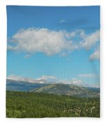 Sugar Magnolia Summer Rocky Mountain Peaks Panorama View Fleece Blanket