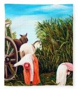 Sugarcane Worker 1 Fleece Blanket
