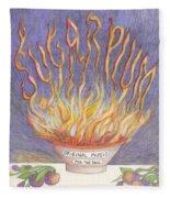 Sugarplum Fire Fleece Blanket