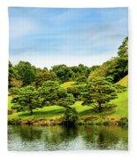 Suizenji Lake Fleece Blanket