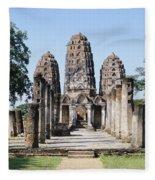 Sukhothai Khmer Sanctuary Fleece Blanket
