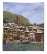 Sul Lago Di Como Fleece Blanket