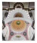 Suleymaniye Mosque Ceiling Fleece Blanket