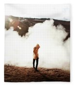Sulfur Clouds Fleece Blanket