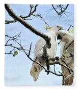 Sulphur Crested Cockatoos Fleece Blanket