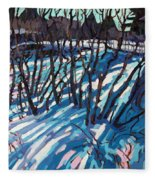 Sumac Snow Shadows Fleece Blanket