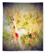 Sumac Tree In The Sunlight Fleece Blanket