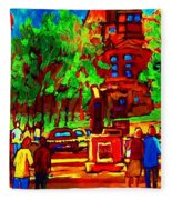 Summer At Mcgill University Fleece Blanket
