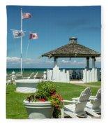 Summer At The Shore Fleece Blanket