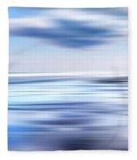 Summer Beach Blues Fleece Blanket