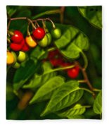 Summer Berries Fleece Blanket
