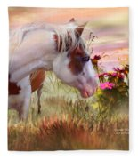 Summer Blooms Fleece Blanket