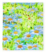 Summer Blues Fleece Blanket