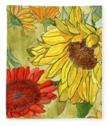 Summer Bouquet Fleece Blanket