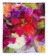Summer Bouquet Fleece Blanket