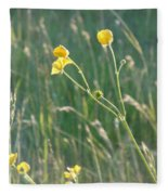 Summer Buttercups Fleece Blanket