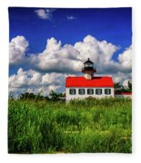 Summer Clouds At East Point Fleece Blanket