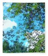Summer Clouds Fleece Blanket