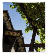 Summer Courtyard - Decorated Eaves And Grape Arbors In The Sunshine Fleece Blanket