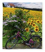 Summer Cycling Fleece Blanket