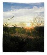 Summer Day Going Into Evening.  Fleece Blanket