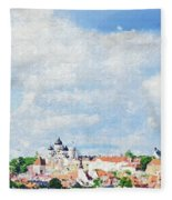 Summer Day In Tallinn Fleece Blanket