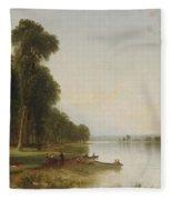 Summer Day On Conesus Fleece Blanket