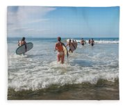 Summer Days Byron Waves Fleece Blanket
