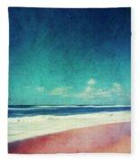 Summer Days IIi - Abstract Beach Scene Fleece Blanket