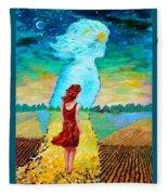 Summer Days On The Prairies Fleece Blanket