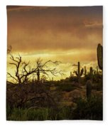 Summer Desert Skies  Fleece Blanket