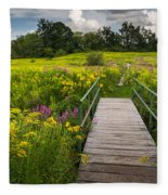 Summer Field Of Wildflowers Fleece Blanket