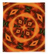 10697 Summer Fire Mask 54 Kaleidoscope 2 Fleece Blanket