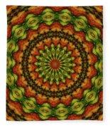 10698 Summer Fire Mask 54 Kaleidoscope 3 Fleece Blanket