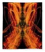 10658 Summer Fire Mask 58 - Dance Of The Fire Queen Fleece Blanket